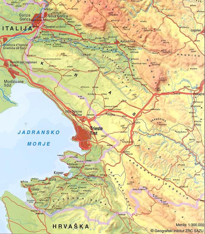 Map Of Kras Region
