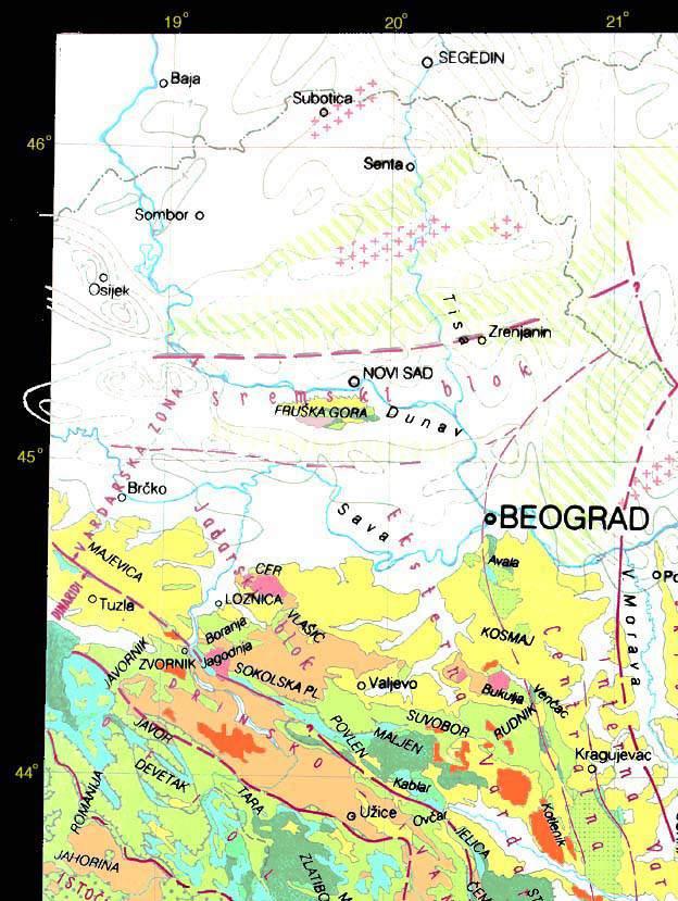 Srbija Geoloska Karta Severozapadni Kvadrant